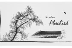 Trauerkarte, Bilder, Baum, Treppe, Möwe, Motiv - Nr. 019 BA