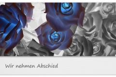 Trauerkarte, Bilder, Rosen, Abschied, Trauer, Motiv - Nr. 026 BL