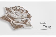 Trauerkarte, Bilder, Rose, Motiv - Nr. 041 BL