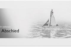 Trauerkarte, Bilder, Segelboot, Boot, Abschied, Trauer, Motiv - Nr. 015 BO