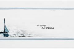 Trauerkarte, Bilder, Segelboot, Boot, Abschied, Trauer, Motiv - Nr. 016 BO