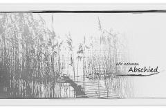 Trauerkarte, Bilder, Motiv, Ufer, Schilf, Steg - Nr. 015 DW