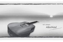 Trauerkarte, Bilder, Gitarre, Motiv - Nr. 015 IN