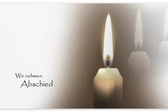 Trauerkarte, Bilder, Kerzen, Kerze, Trauer, Abschied, Motiv - Nr. 015 KE