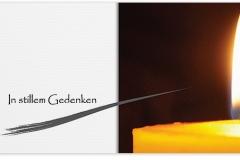 Trauerkarte, Bilder, Kerze, Licht, Flamme, Docht, Abschied, Motiv - Nr. 016 KE