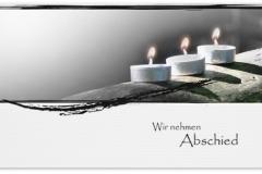 Trauerkarte, Bilder, Teelichter, Licht, Kerzen, Trauer Motiv - Nr. 021 KE
