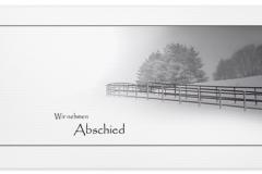 Trauerkarte, Bilder, Winterlandschaft, Schnee, Bäume, Abschied, Motiv - Nr. 017 LA