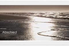 Trauerkarte, Bilder, Meer, Wellen, Strand, Abschied, Motiv - Nr. 017 ME