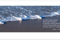 Trauerkarte, Bilder, Meer, Brandung, Abschied, Motiv - Nr. 018 ME