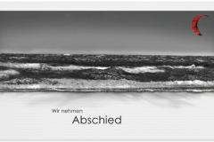Trauerkarte, Bilder, Surfer, Strand, Wellen, Meer Motiv - Nr. 019 ME