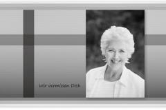 Trauerkarte, Bilder, Portrait, Foto, Abschied, Trauer, Motiv - Nr. 024 SO