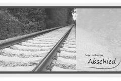 Trauerkarte, Bilder, Bahngleis, Gleise, Motiv - Nr. 027 SO
