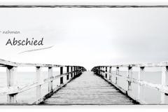 Trauerkarte, Bilder, Motiv Steg, Meer - Nr. 036 SO