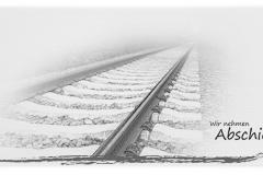 Trauerkarte, Bilder, Bahngleis, Gleise, Motiv - Nr. 040 SO