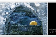 Trauerkarte, Bilder, Stein, Grabstein, Abschied, Trauer, Motiv - Nr. 020 ST