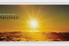 Trauerkarte, Bilder, über den Wolken, Sonne, Abschied, Trauer, Motiv - Nr. 016 SU