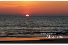 Trauerkarte, Bilder, Sonnenuntergang, Meer, Abschied, Motiv - Nr. 017 SU
