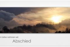 Trauerkarte, Bilder, Abendsonne, Winter, Abschied, Motiv - Nr. 018 SU