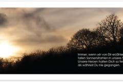 Trauerkarte, Bilder, Sonnenuntergang, Winter, Wolken, Motiv - Nr. 019 SU