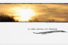 Trauerkarte, Bilder, Sonnenuntergang, Sonne, Motiv - Nr. 020 SU