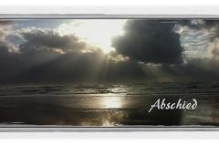 Trauerkarte, Motiv Sonnenuntergang am Meer - Nr. 023 SU
