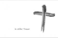 Trauerkarte, Bilder, Motiv, Symbol, Kreuz, christlich - Nr. 017 SY