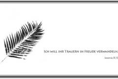 Trauerkarte, Bilder, Palmenzweig, Symbol, christlich, Trauer, Motiv - Nr. 025 SY
