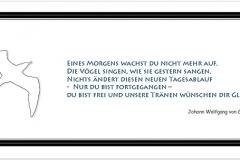 Trauerkarte, Bilder, Symbol, Möwe, Vogel, Abschied, Trauer, Motiv - Nr. 028 SY