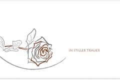 Trauerkarte, Bilder, Motiv, Rose gezeichnet - Nr. 040 SY