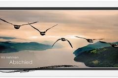 Trauerkarte, Bilder, Wildgänse, Vögel, fliegen, Trauer, Motiv - Nr. 016 VO