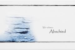 Trauerkarte, Bilder, Steine, Weg, Abschied, Natur, Motiv - Nr. 017 WE
