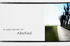 Trauerkarte, Bilder, Baumallee, Weg, Abschied, Trauer, Motiv - Nr. 019 WE