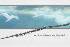 Trauerkarte, Bilder, Möwe, Wolken, Abschied Motiv - Nr. 016 WO
