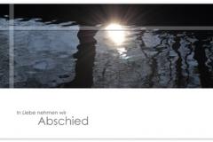 Trauerkarte, Bilder, Sonne, Fluß, Motiv - Nr. 018 WS