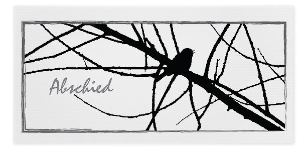 Trauerkarten Motiv Vogel auf Ast 017 AS
