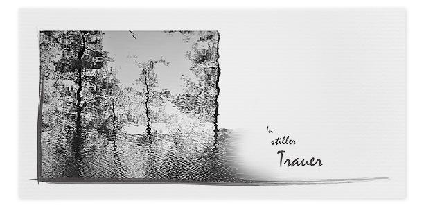 Trauerkarten Motiv Wasserspiegelung Bäume 021 BA