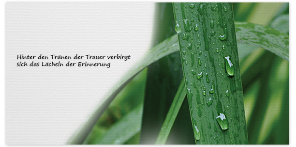 Trauerkarten Motiv Wassertropfen 020 BL