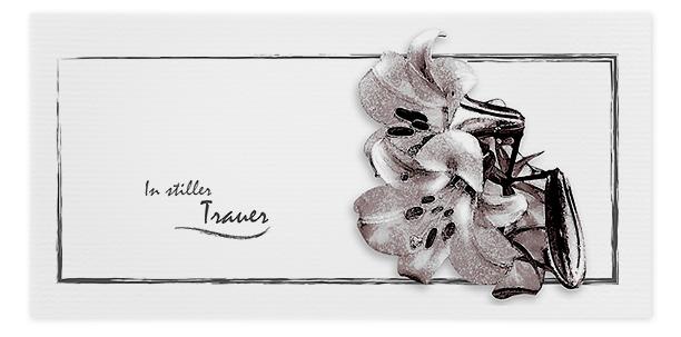 Trauerkarten Motiv Lilie 043 BL