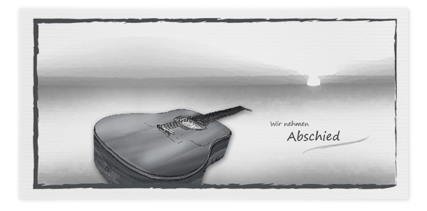 Trauerkarte Motiv Gitarre 015 IN