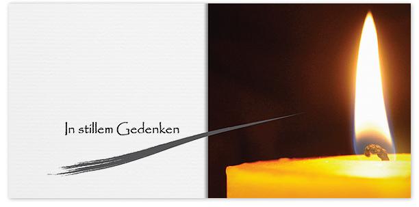 Trauerkarten Motiv Kerzendocht 016 KE