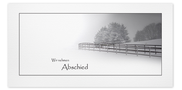 Trauerkarten Motiv Winterlandschaft 017 LA