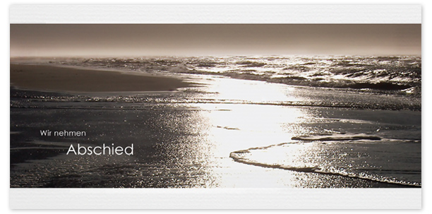Trauerkarten Motiv Meer Strand 017 ME