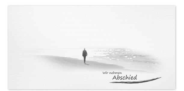 Trauerkarten Motiv am Ufer 020 ME
