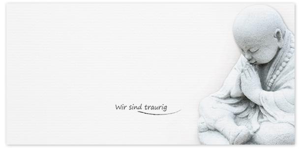 Trauerkarten Motiv Buddha 015 SO