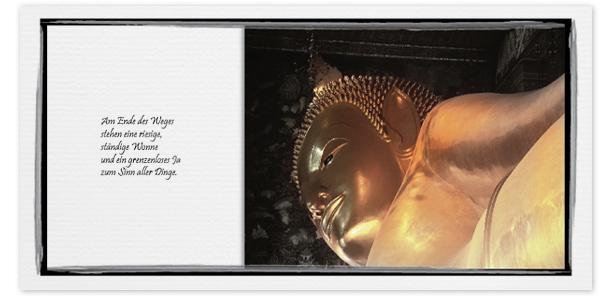 Trauerkarten Motiv Buddha liegend 019 SO