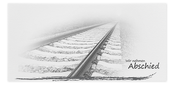 Trauerkarten Motiv Bahngleis 040 SO