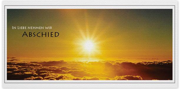 Trauerkarten Motiv Sonne über den Wolken 016 SU