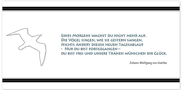 Trauerkarten Motiv Möwe gezeichnet 020 ME