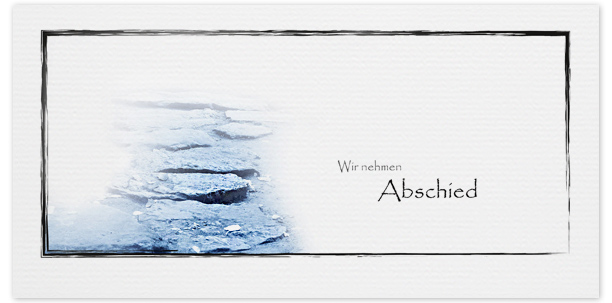 Trauerkarten Motiv Weg aus Steine 018 WE