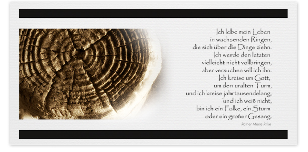 Trauerkarte Motiv - Nr. 017 BA
